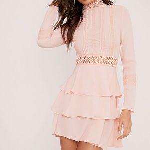 PLT Hope Dusty Pink Crochet Lace Swing Dress NWT